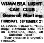 Wimmera Light Car Club General Meeting