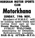 Horsham Motor Sports Club - Motorkhana
