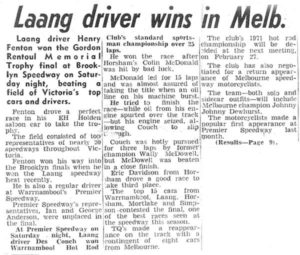 Laang Driver Wins In Melbourne