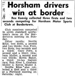 Horsham Drivers Win at Border