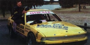 READY FOR ACTION: Horsham driver Shaun Queale in his VL Commodore. PHOTO: Wimmera Mail Times