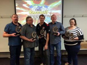 CLASS CHAMPIONS: L-R Mark McDonald, Steve Ellis, Richard Bansemer, Luke James, Emma Wilken