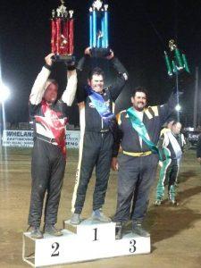 Jock Baker, Adrian Christian and Adam Mackenzie atop the podium.
