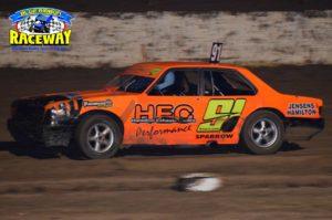 CAPTAIN SPARROW: Hamilton Driver, Dehne Sparrow took control of the Open Sedan class on the weekend. PHOTO: Leanne Shanks