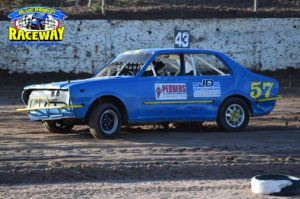 POLE POSITION: Melbourne Junior Driver Donald Young dominated the 'A Grade' heat races.PHOTO: Leanne Shanks