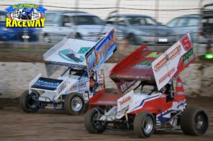 WIDE OPEN: Brenton Farrer pushes the cushion while Trigga Gates runs low. PHOTO: M & L Photography