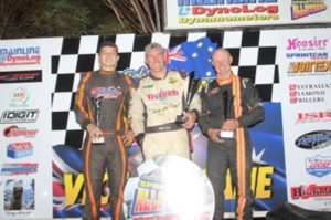 PODIUM 2016:  Brayden Parr, Matt Reed, Phil Lock PHOTO: Sprintcar Allstars