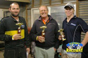 VSC FORMULA 500 PODIUM: (L-R) 3rd Kane Charlston, 1st Graham Porter, 3rd Thomas Button