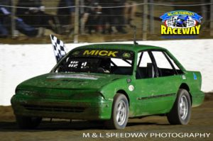 UNBEATABLE: Mick Boyle was unstoppable winning all of the Three Litre Sedan Races. PHOTO: M&L Speedway Photography