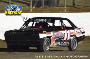 Hamilton's Todd Atkin won the JSPA Junior Sedan Final Race. PHOTO: M&L Speedway Photography
